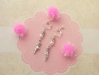 Ballet Clip On Earrings Kids Earrings Childrens Jewellery