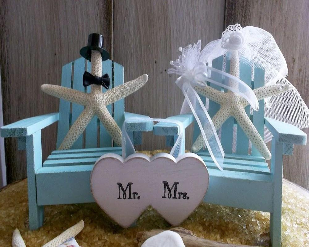 Adirondack Chair Beach Wedding Cake Topper Beach Wedding