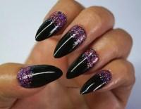 Glitter stiletto nails, Nail art, Christmas Nails ...