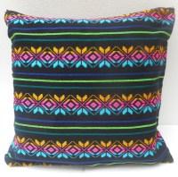 Mexican Pillow Cover Black Tribal Pillow Decorative Pillow