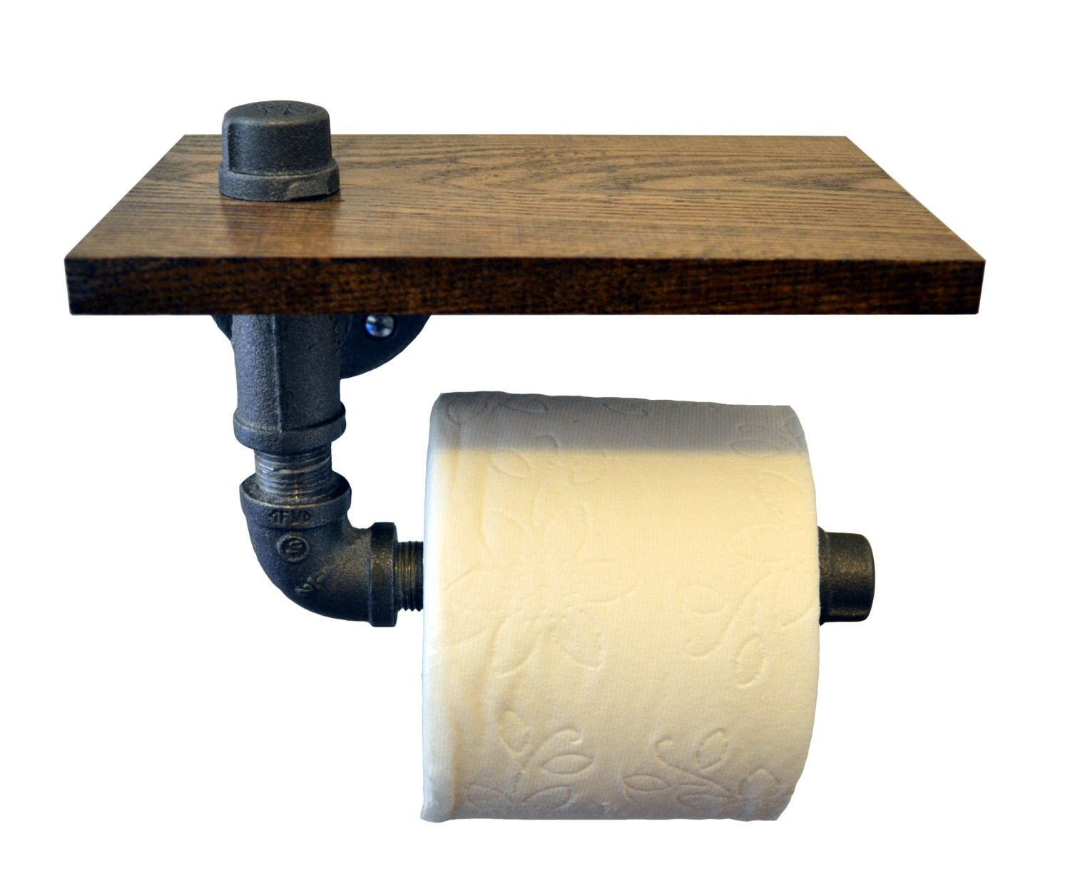 Custom Made Toilet Paper Reclaimed Wood And Pipe Toilet Paper Holder Multiple