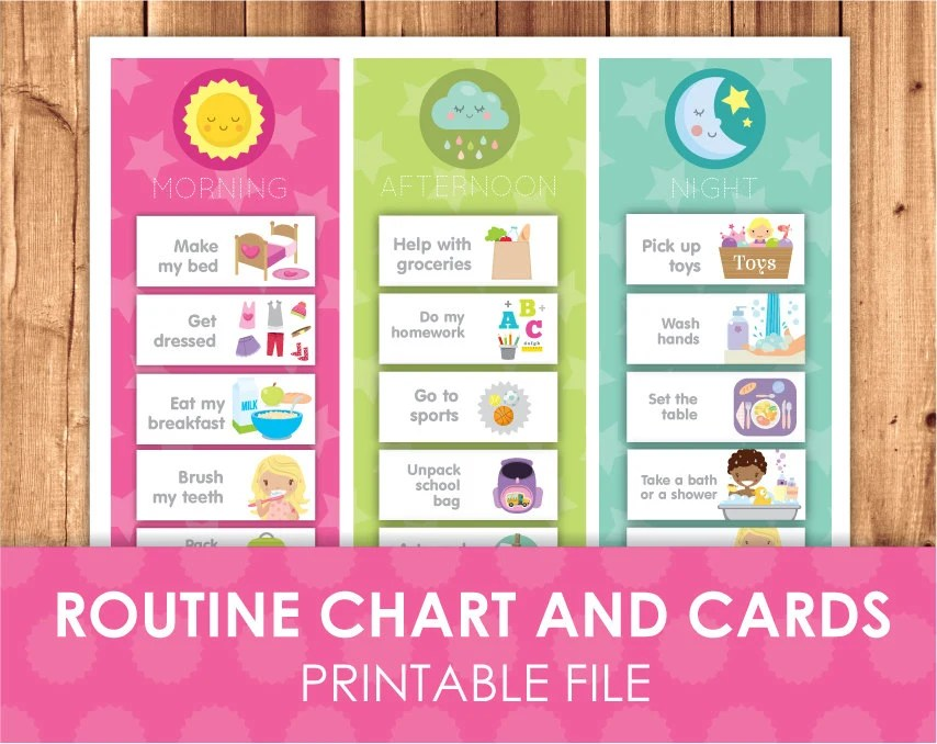 Free Printable Daily Schedule Cards HD Wallpapers \u2013 Home design