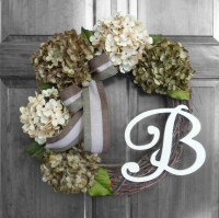 Front Door Wreaths with Initial Summer Wreath by RefinedWreath