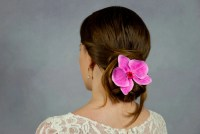 wedding hair orchids orchid hair clip wedding hair flowers ...
