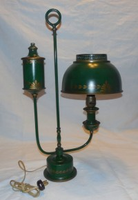 Vintage Toleware Table Lamp/ Student/ Desk. by RandJs on Etsy
