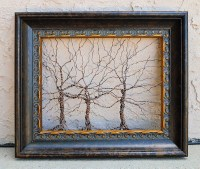 Framed tree wall art / wire sculpture Unique Art by ...
