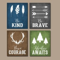 WOODLAND QUOTE Wall Art CANVAS or Print Boy Nursery Decor