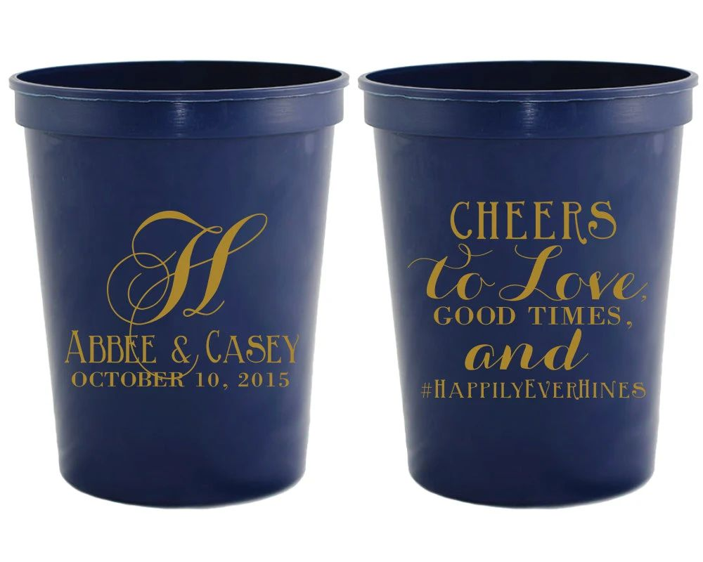 monogrammed cups for wedding