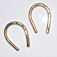 8 Gauge Gold Earrings