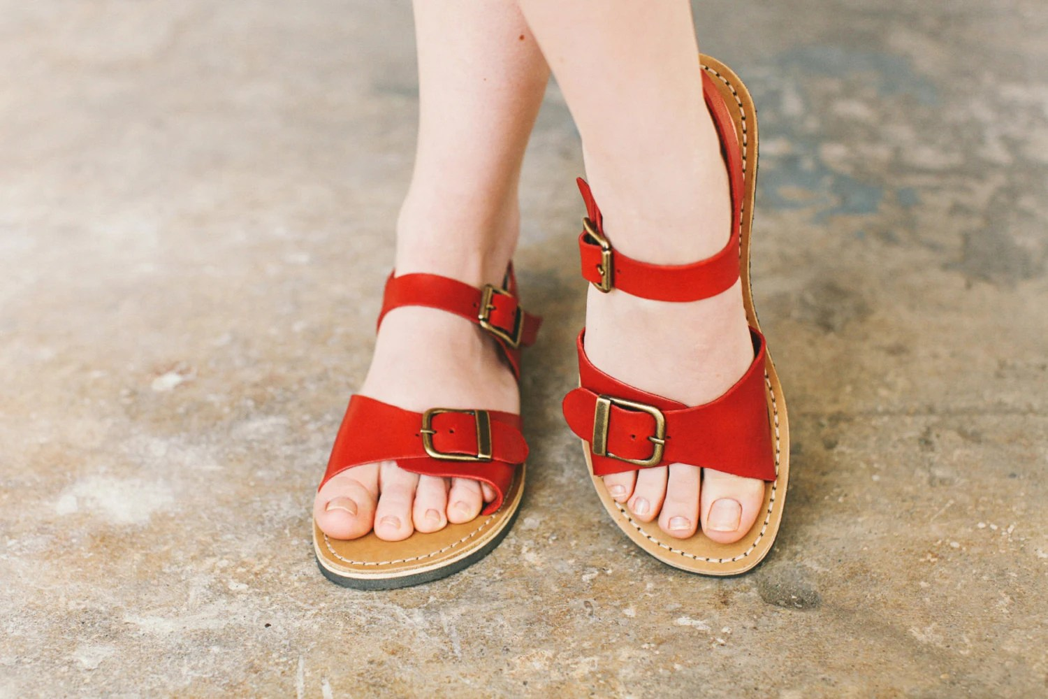 Wide Foot Narrow Foot Summer Shoes Custom Sandals Red By