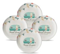 Set of 4 Personalized Camping Plates Personalized Melamine