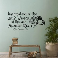 Alice In Wonderland Wall Decal Quote Imagination IsThe Only