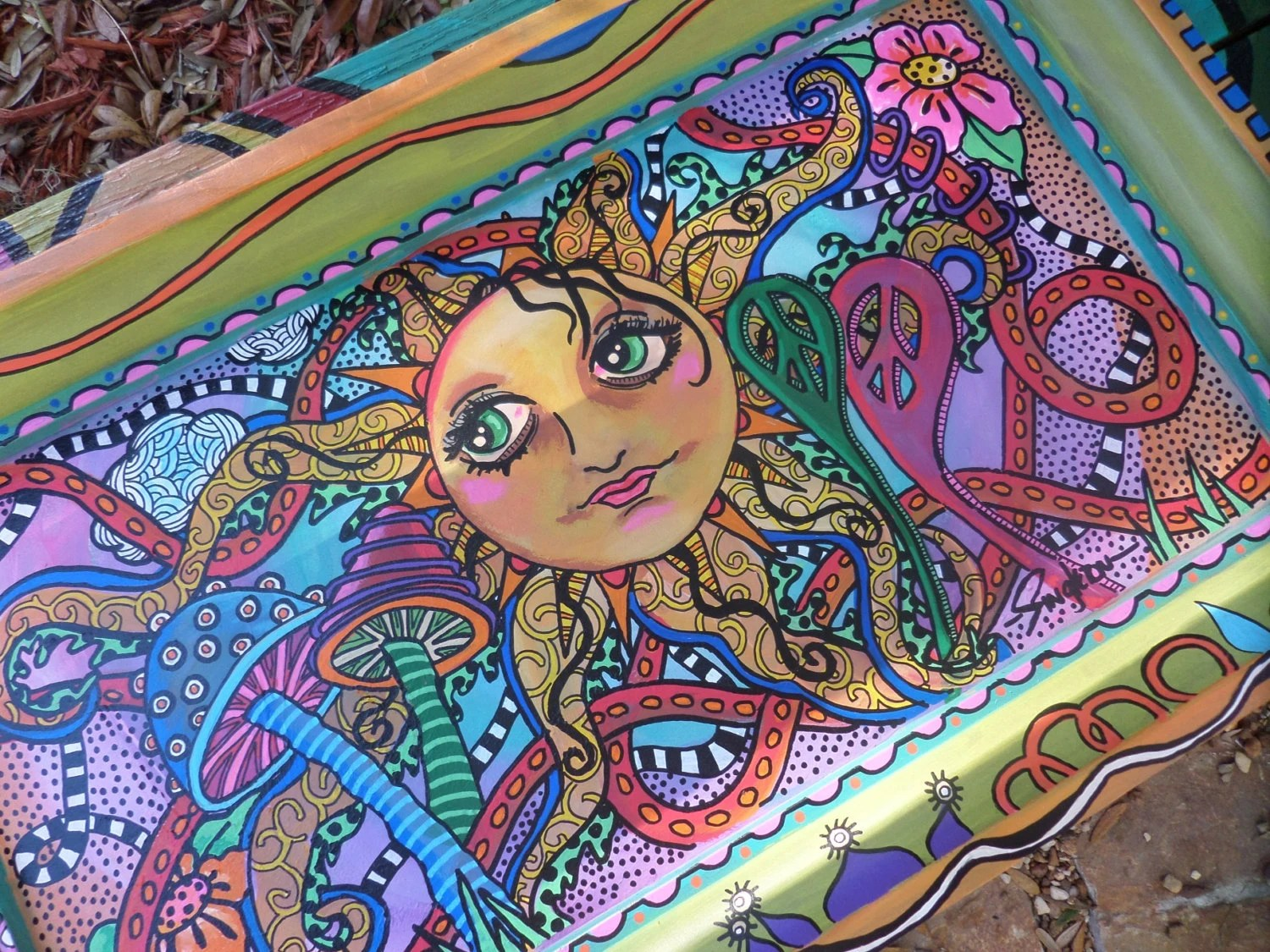 Pinturas Hippies Hippie Art Singleton Hippie Art Sunshine Hippie Painting