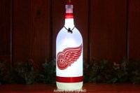 Detroit Red Wings Bottle Lights Hockey Decal Lamp NHL Fan