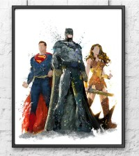 Batman vs Superman Watercolor Print Batman Art by ...