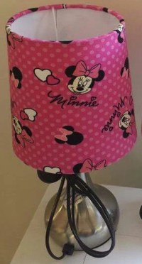 Minnie Mouse Table Lamp Night Light Touch Lamp Ceramic Switch