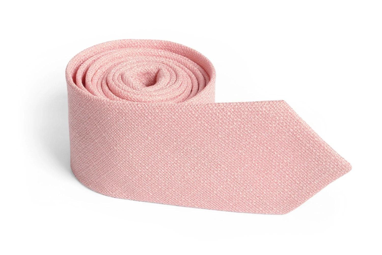 Dusty Salmon Pink Texture Tie Men's skinny Light Salmon