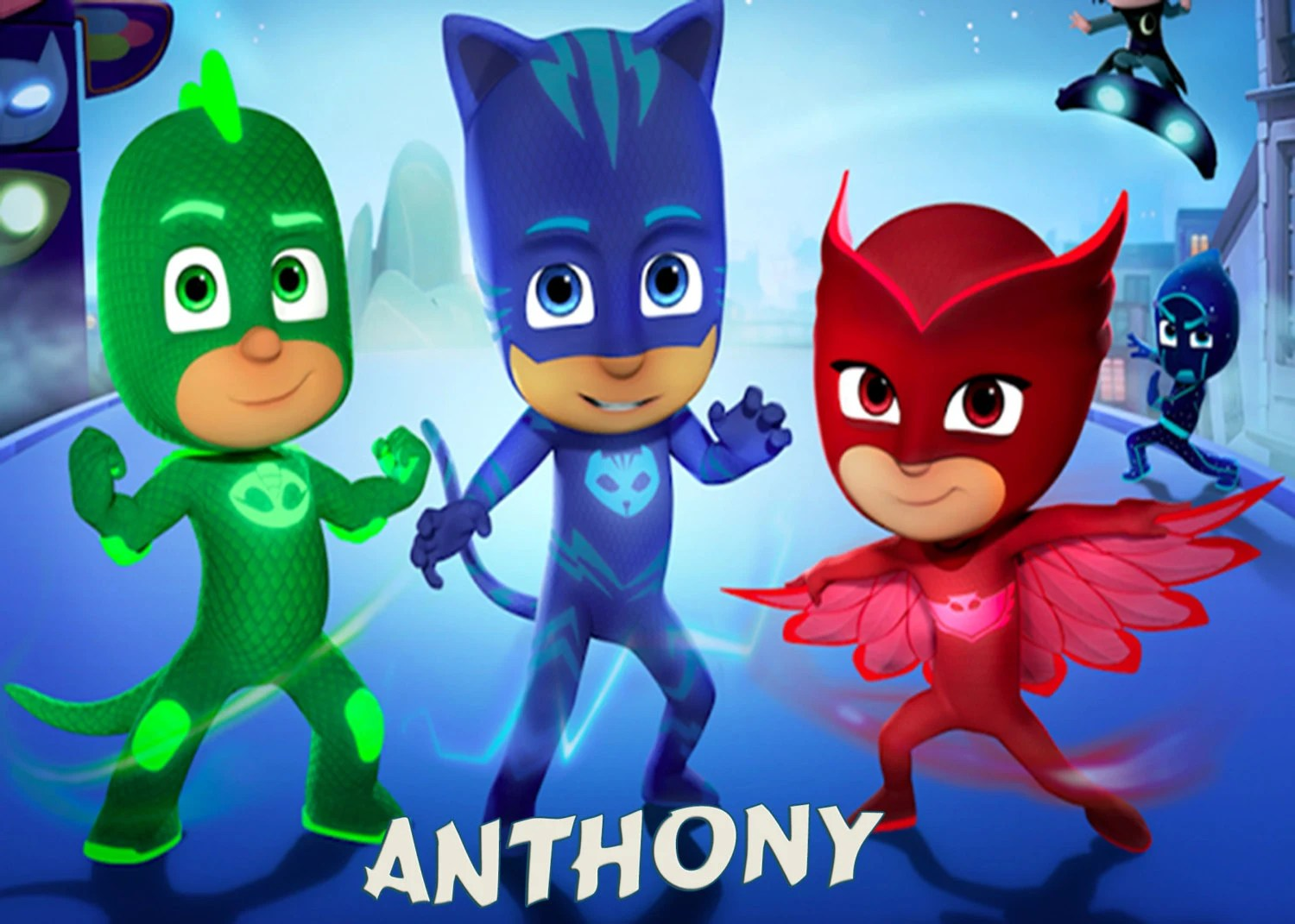 Create Name Animation Wallpaper Pj Masks Group Iron On T Shirt Transfer By Eliteproductions