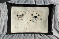 Dog Pillow XL Size Personalized Pet Pillow Cover Custom Pet