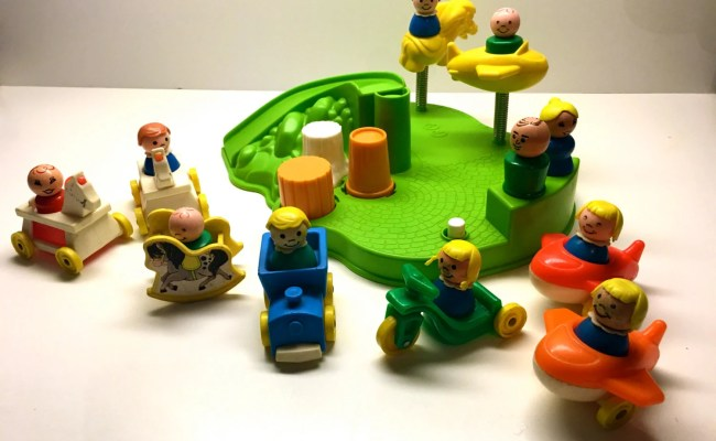 Vintage Fisher Price Little People Playground And