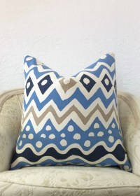 Blue Pillow Decorative Pillow Tribal Print by ...