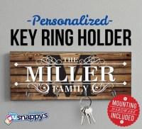 Personalized Key Holder Wall Key Rack Anniversary Gift