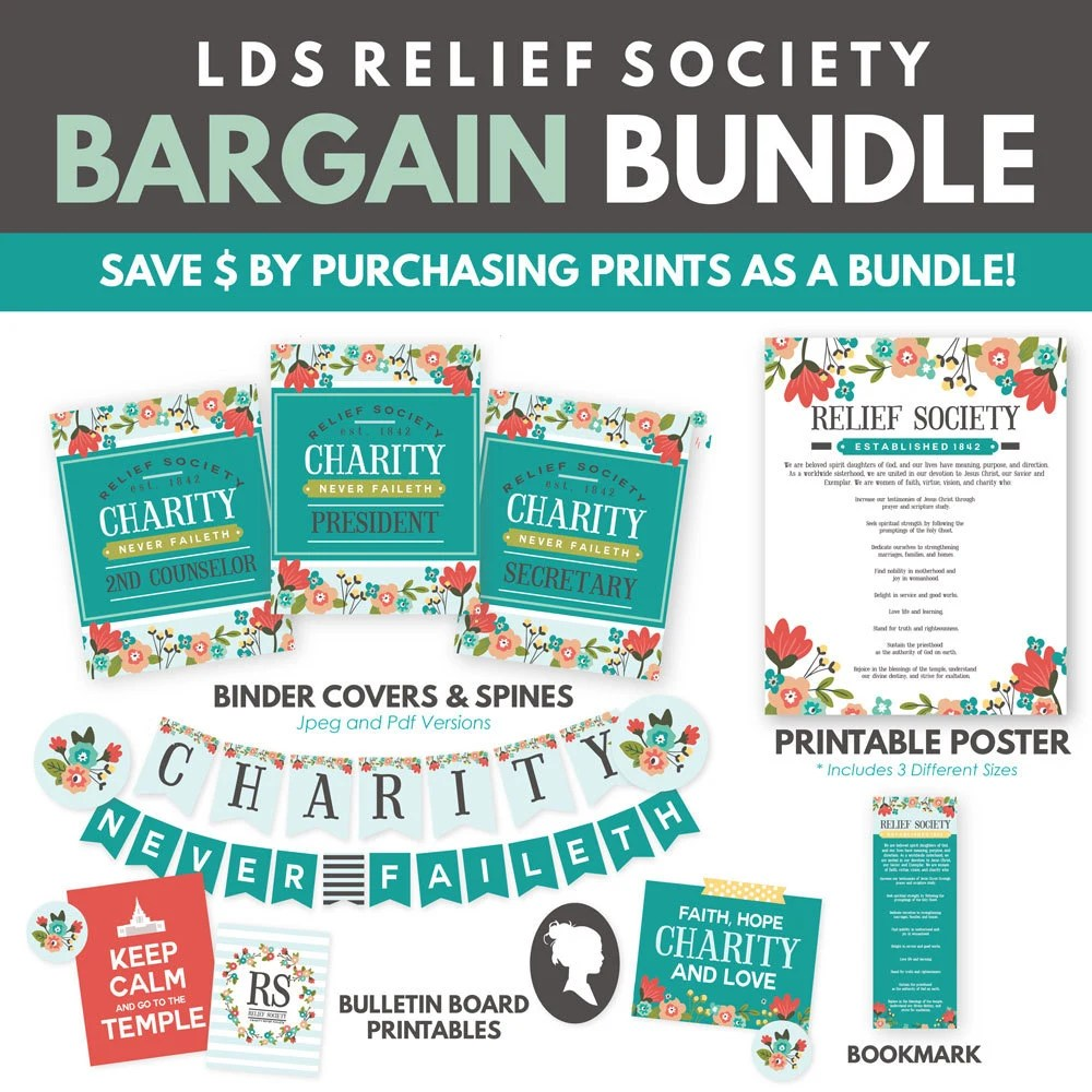 LDS Relief Society Printable Pack (Bundle Deal 25 Off) - amazing