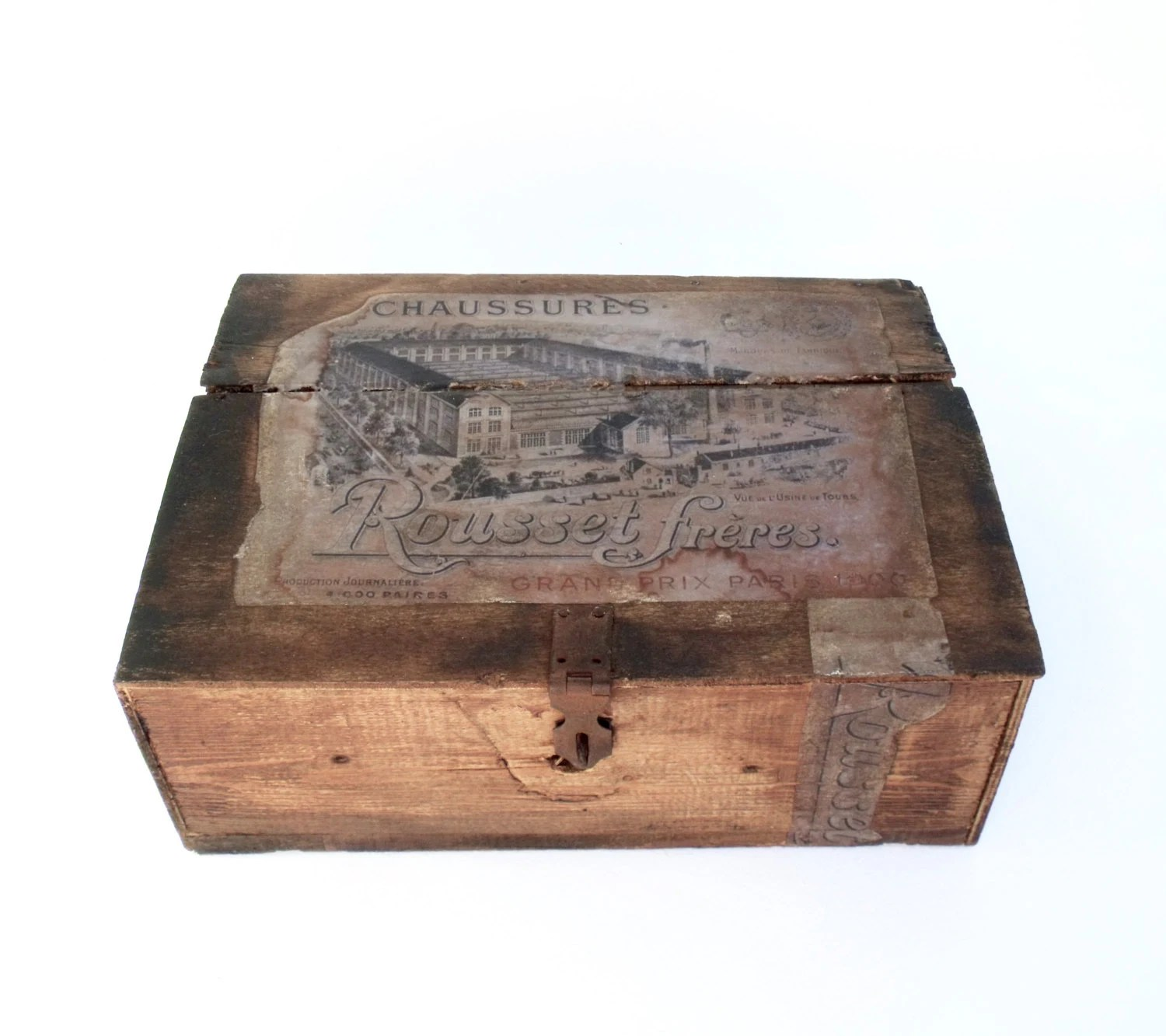 Shoe Box Australia Large French 1900 39s Wooden Chaussure Shoe Box Rousset
