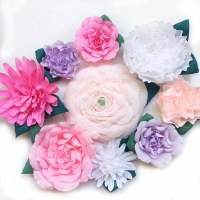 Crepe Paper Flower Wall-Paper Flower Backdrop Giant Paper