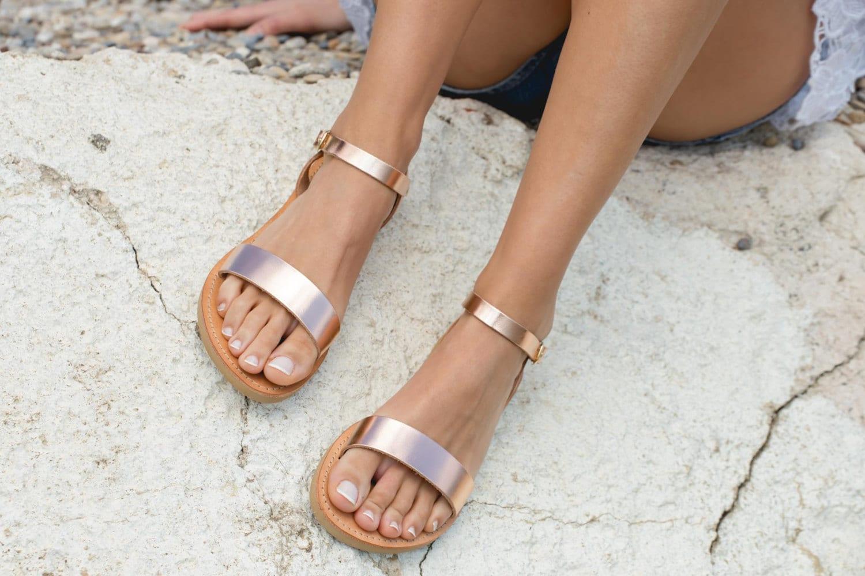 Sandals greek sandals ankle strap sandals leather sandals elegant sandals flat