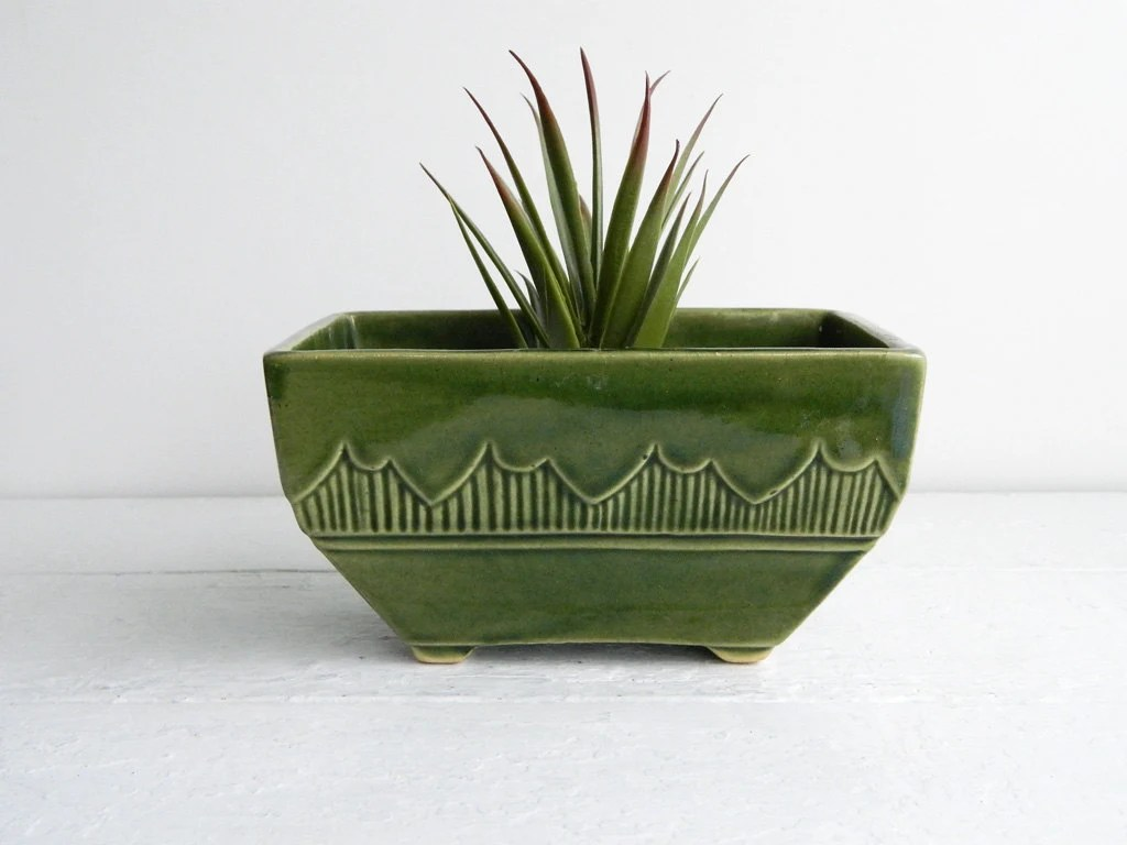 Ceramic Flower Pot Large Vintage Large Green Ceramic Planter Flower Pot