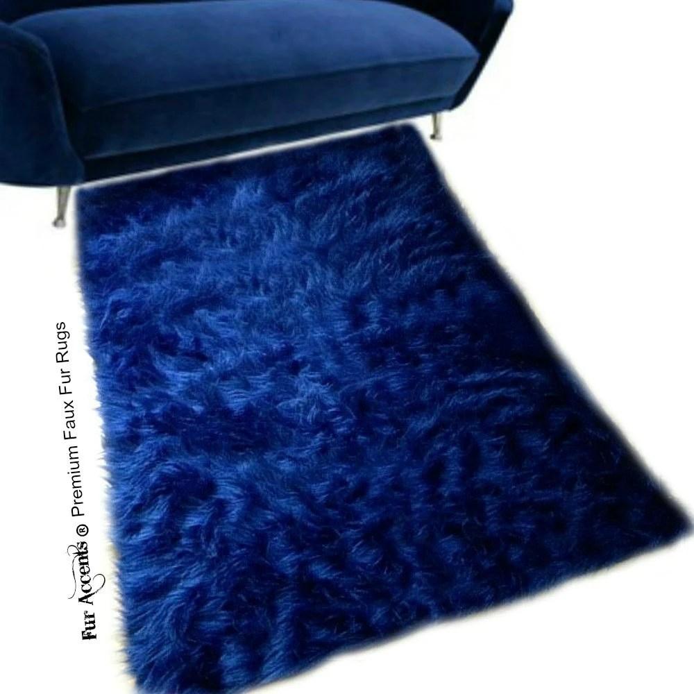 Blue Sheepskin Rug Etsy