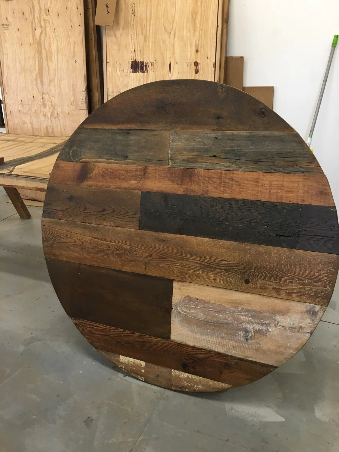 Round Table Tops Round Dining Table Table Top Wood Variety Reclaimed Wood