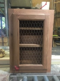 Cabinet-Rustic Chicken Wire door