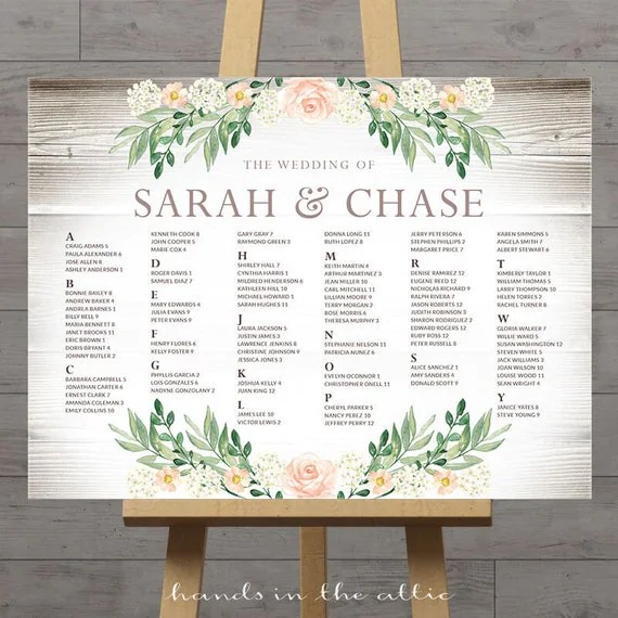 Rustic seating charts for weddings, chart ideas poster, wedding - wedding charts