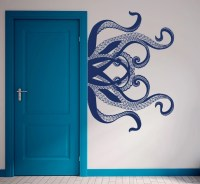 Octopus Wall Decal Tentacles Decals Bedroom Bathroom Decor Sea