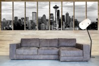 Seattle Wall Art - large wall art seattle canvas print - 3 ...