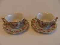 Miniature china tea cups and saucers mini china cup