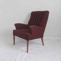 mid century modern TALL back wing chair by ...