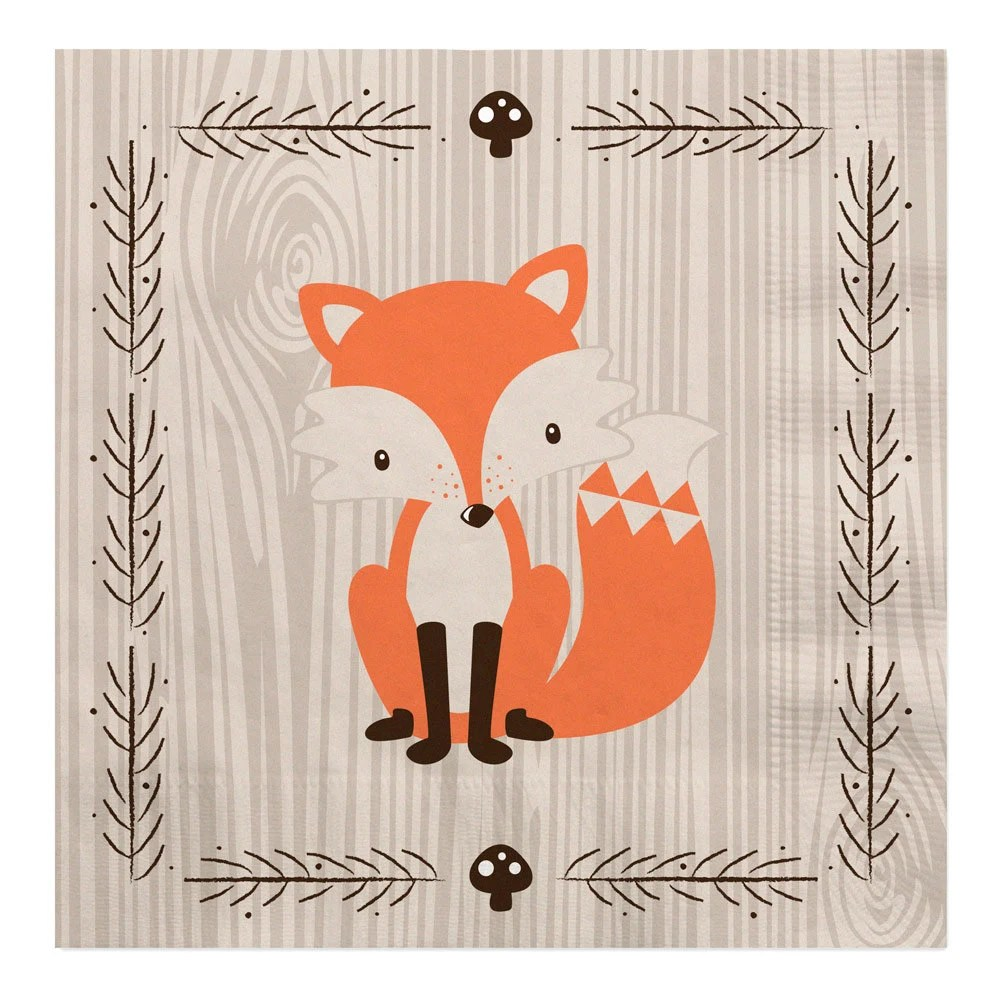 Fall Woodland Creatures Wallpaper Woodland Luncheon Napkin Woodland Creatures Baby Shower