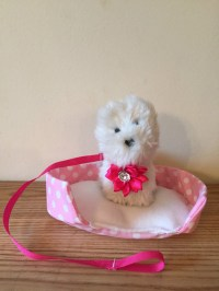 American Girl Pet Bed Leash and Collar by Fairytaleblessings