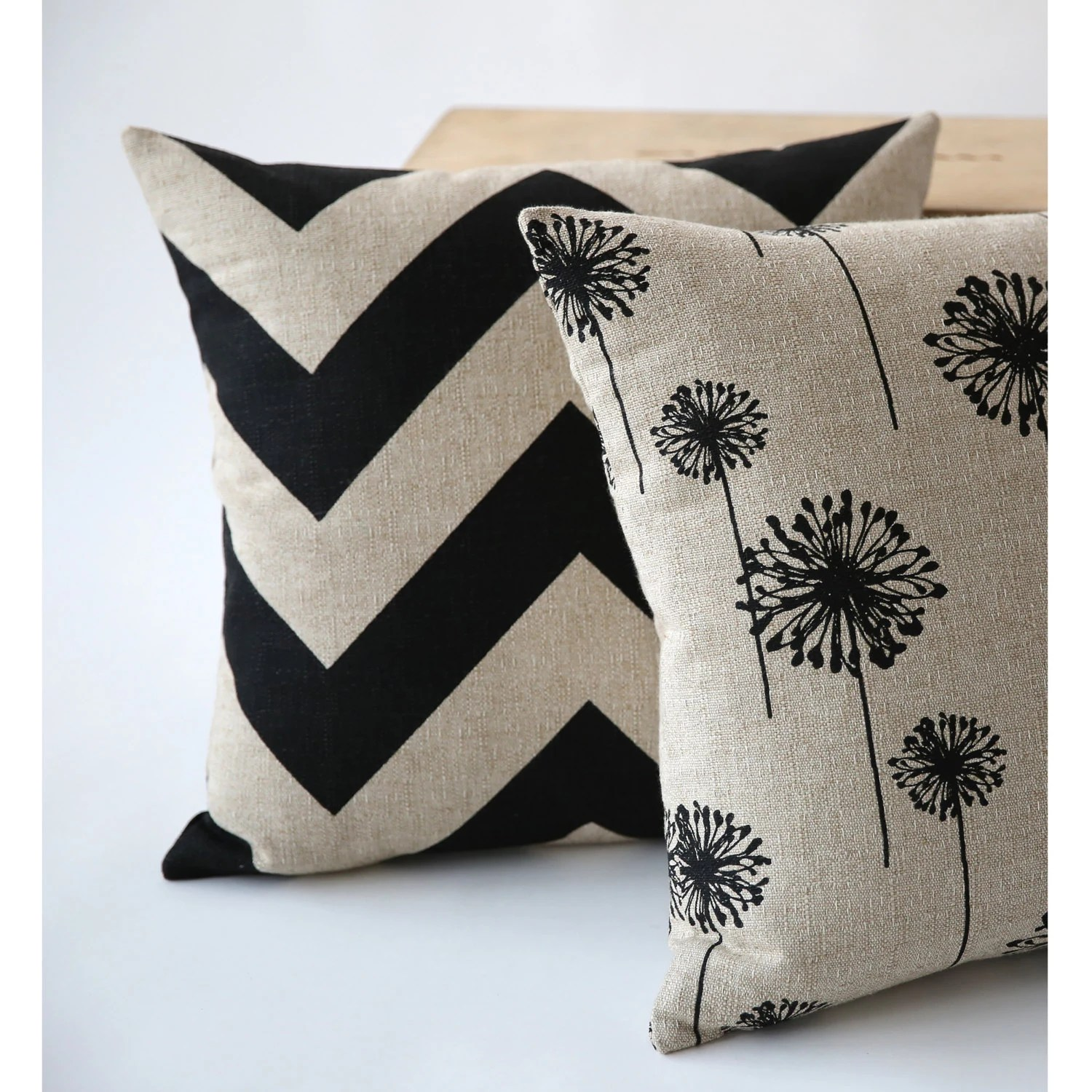 Chic Burlap Pillow Cover Collection Zippered Choose By