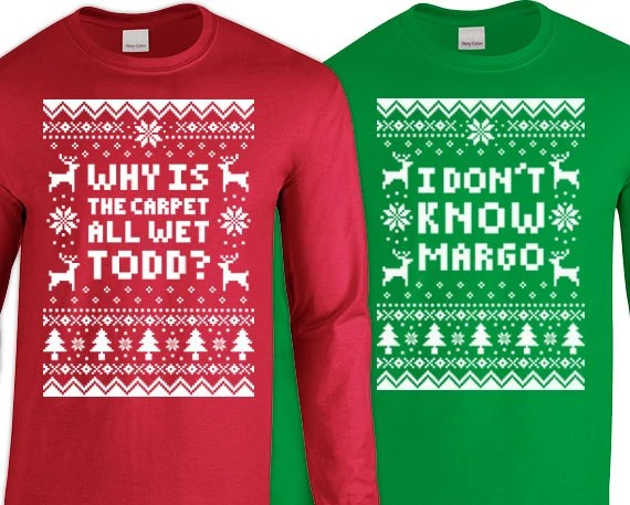 Christmas Vacation Sweaters Todd And Margo Lifehacked1stcom