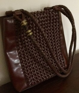 Vintage Leather Shoulder Bag - Vintage Purse - Vintage handbag - Vintage Bag