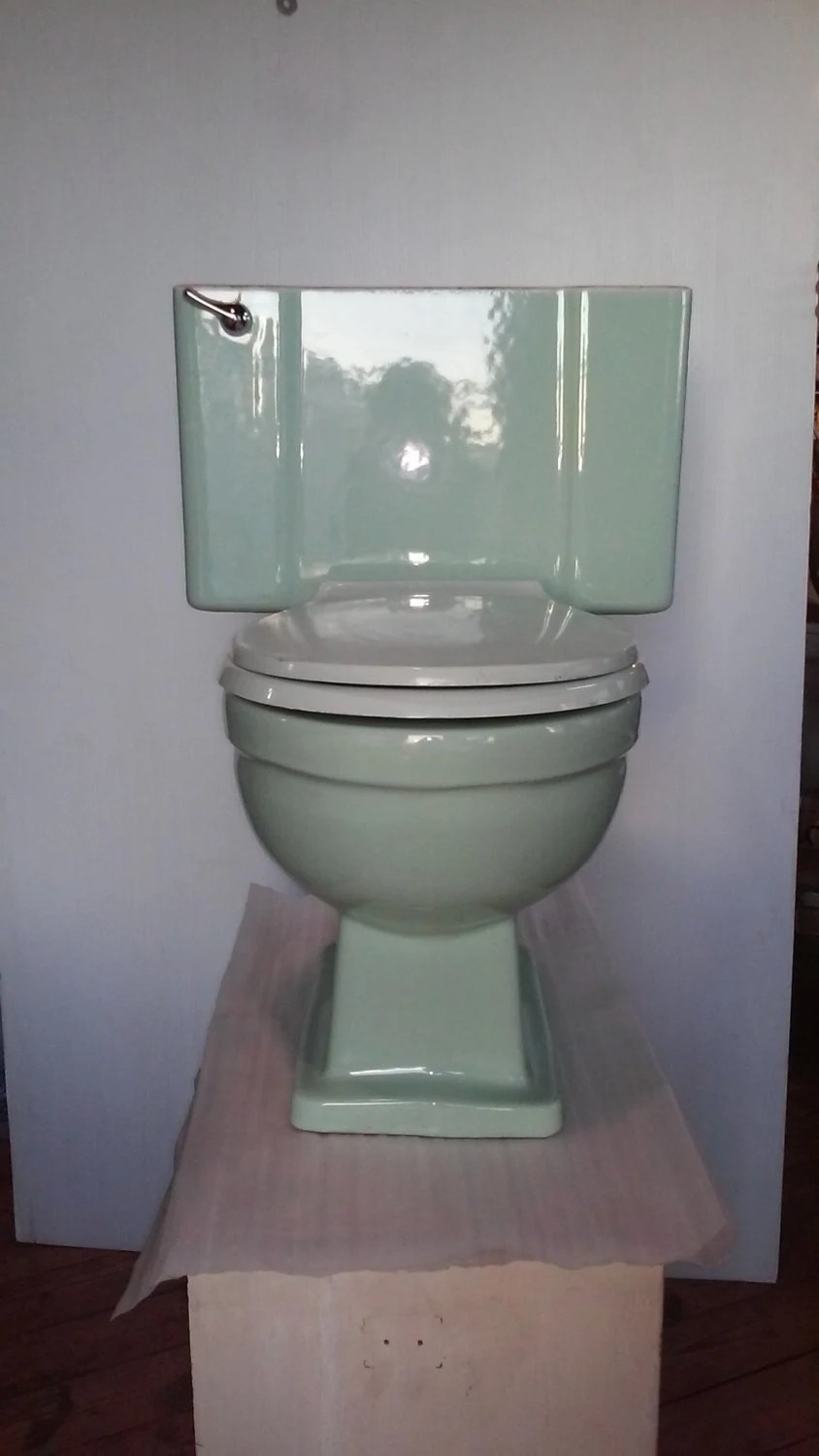 Kommode Mint Vintage Mid Century Toilet Mint Green Commode Bathroom Remodel