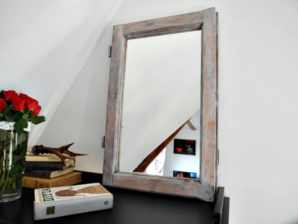 Loft Style Window Mirror Mirror From An Old Window Frame Vintage Loft Style Rustic