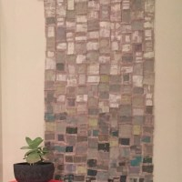 Modern wall art-handmade contemporary printed textile wall