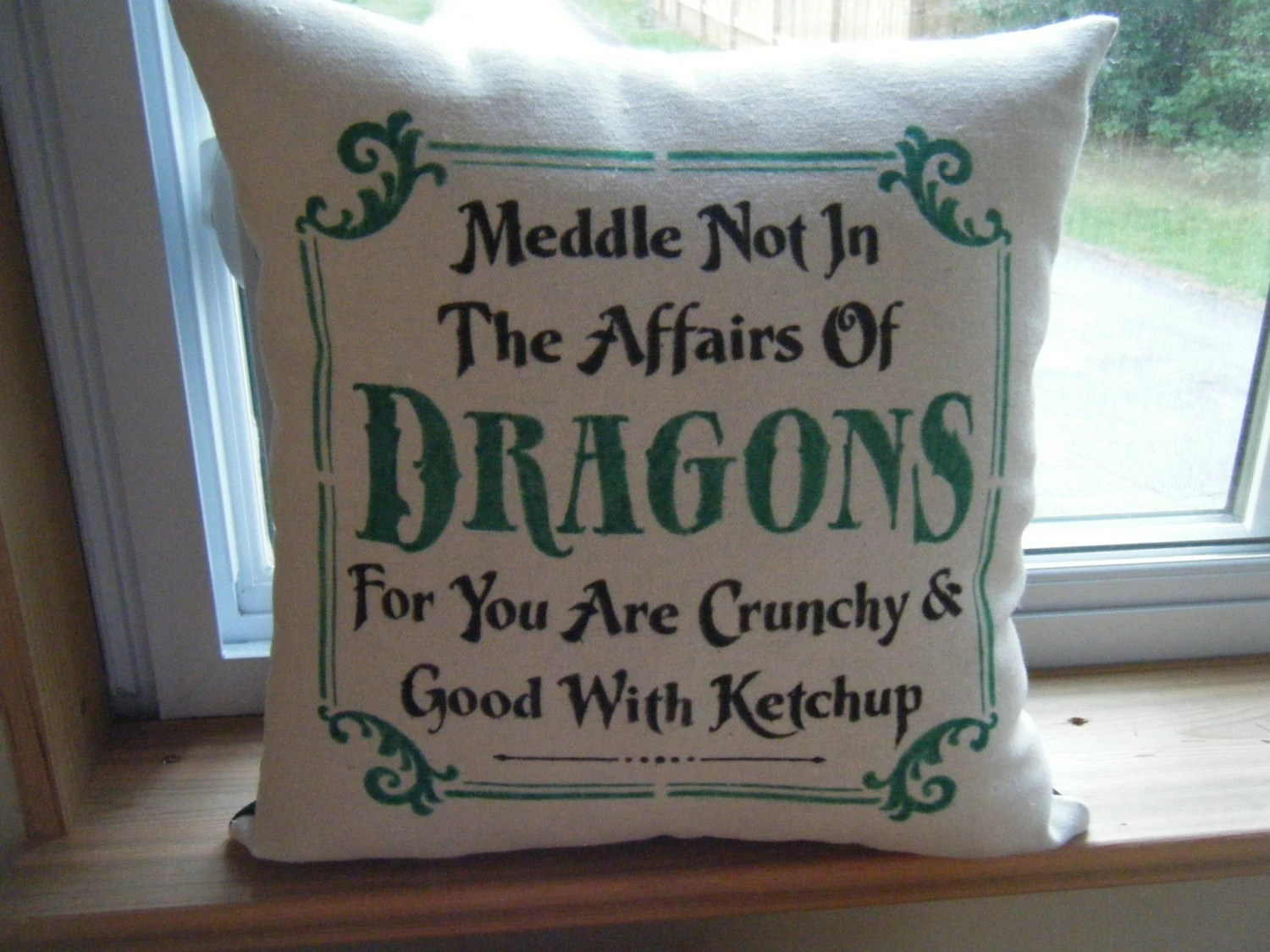 Kissenkiste Pillow Cover Meddle Not In The Affairs Of Dragons