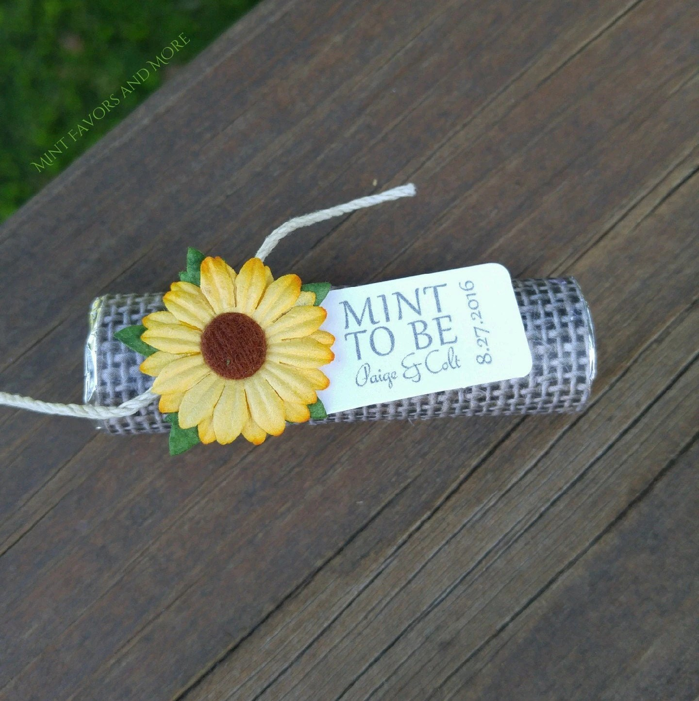 fall wedding favor fall wedding favors sunflower wedding favors with personalized tag set of 24 mint wedding favors burlap rustic fall theme autumn chic sunflower wedding