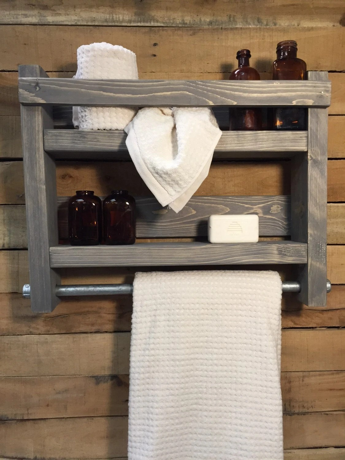 Holz Handtuchhalter Bathroom Towel Rack Wood Towel Rack Bathroom Shelf